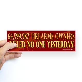 64 Million Gun Owners Bumper Sticker for $4.25