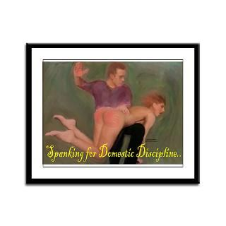 Spanking for Domestic Discipline Framed Panel Prin