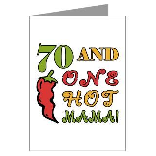 Hot Mama At 70 Greeting Cards (Pk of 20)