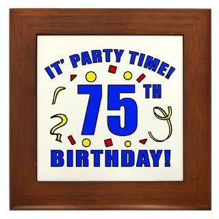 75Th Birthday Framed Art Tiles  Buy 75Th Birthday Framed Tile