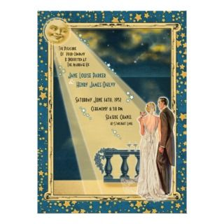 Vintage Moonlight Wedding Address Label