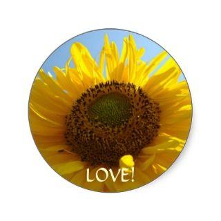 LOVE! Stickers SUNFLOWER stickers gifts Valentines
