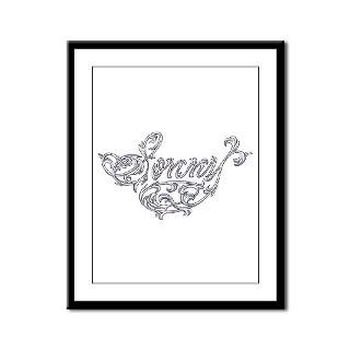 sonny vine name design framed panel print $ 82 98
