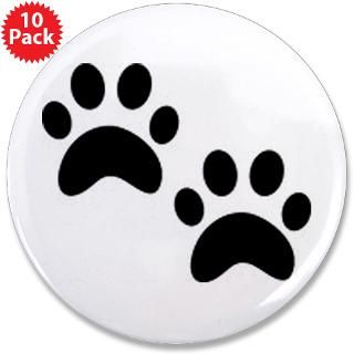 Cat Paw Prints 3.5 Button (10 pack)
