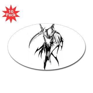 sticker $ 8 99 gothic grim reaper artwork oval sticker 50 pk $ 86 99