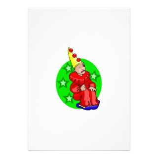 Sad Clown Custom Invitations
