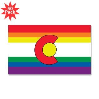 colorado gay pride flag rectangle sticker 50 pk $ 93 09