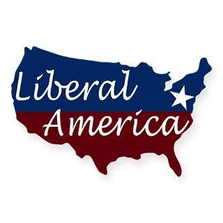 Liberal America Map USA Sticker  Progressive Patriots  Irregular