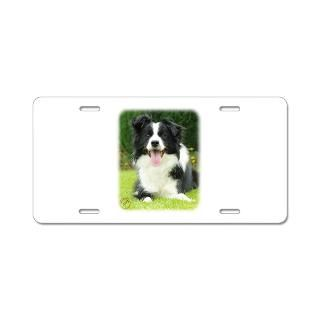 Border Collie License Plate Covers  Border Collie Front License Plate