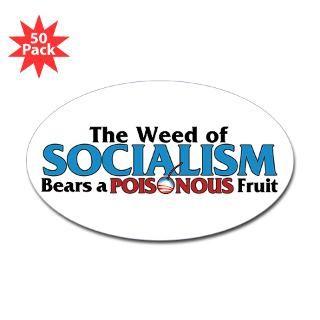 of socialism bumper sticker 50 pk $ 106 99 the wead of socialism oval