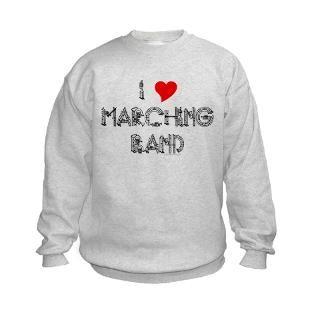 Love Marching Band Kids Sweatshirt