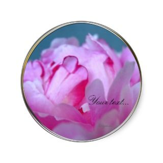 Peony Flowers Wedding Invitation Seals Round Sticker