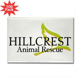 Hillcrest Animal Rescue Rectangle Magnet (100 pack