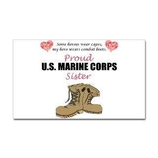 Proud Marine Sister Stickers  Car Bumper Stickers, Decals