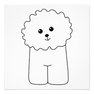 Bichon Frise, Cute Dog. Personalized Invitations