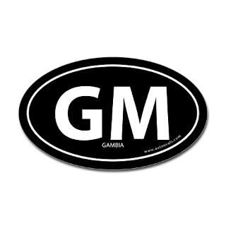 Gambia country bumper sticker  Black (Oval) for $4.25