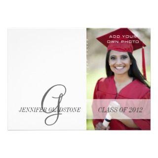 High School Grad Photo Graduation Invitation Black
