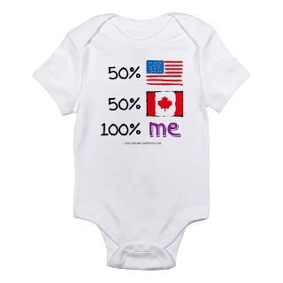 USA/Canada Flag Design Body Suit by soupershop