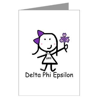 Simple & Cute This girl with Delta Phi Epsilon letters is the