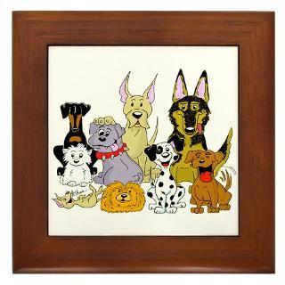 Happy Dog Pack CartoonDog Group Art Gifts  Cartoon Animal T Shirts