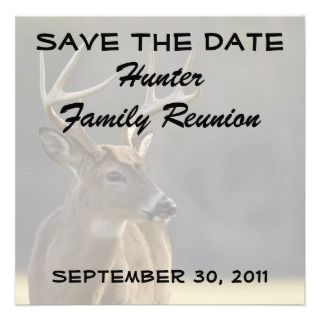 Hunter Family Reunion Save The Date Invitation