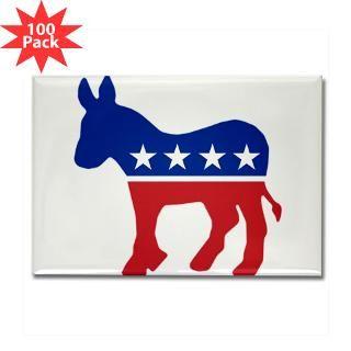 democrat donkey rectangle magnet 100 pack $ 189 99