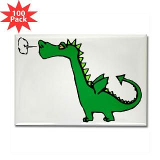 cartoon dragon rectangle magnet 100 pack $ 189 99