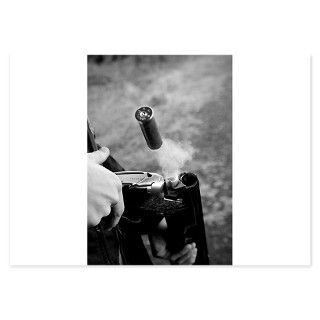 Black And White Gifts  Black And White Flat Cards  shotgun shell