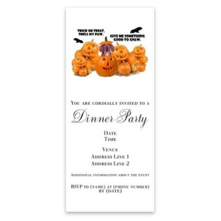 Trick Or Treat (Dachshund) Invitations by Admin_CP2663969  507123775