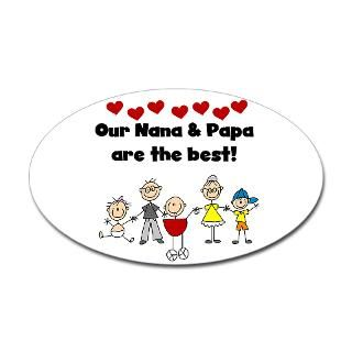 FAMILY STICK FIGURES Oval Sticker  STICK FIGURE FAMILIES PERSONALIZED