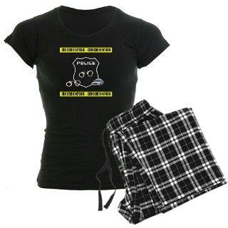 911 Gifts  911 Pajamas  Police Crime Scene Womens Dark Pajamas