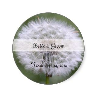 Wild Flowers Wedding Invitations and Favors Stickers