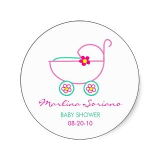 Baby Shower, Carriage Stickers stickers by QuePartyTanFancy