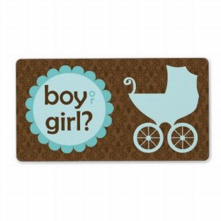 Elegant Baby Carriage Gender Reveal Party Custom Shipping Labels