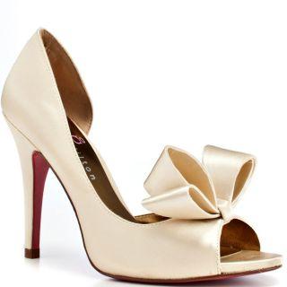 Paris Hilton Ivory Satin Shoes   Paris Hilton Ivory Satin