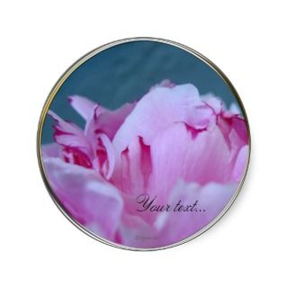 Pink Peony Wedding Flowers Custom Envelope Seals Stickers