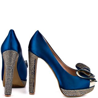 Vince Camutos Blue Grady   Ocean Gold Satin for 139.99