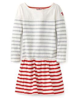 Girls Contrast Stripe Combo Dress   Sizes 7 14