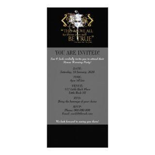 Hamlet own self be true Quote (Gold Version) Invite