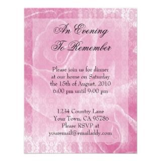 Aged Lace Roses Dinner Party Invitation