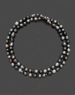 Tahitian Black Pearl Endless Necklace, 36