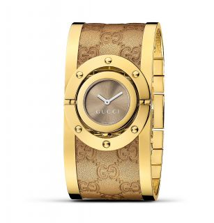 Gucci Twirl Leather Bangle Watch, 33mm