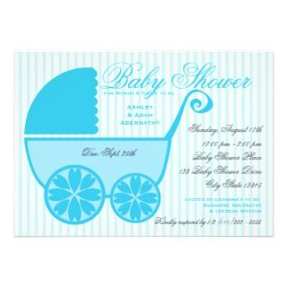 Baby Shower Baby Carriage Announcement