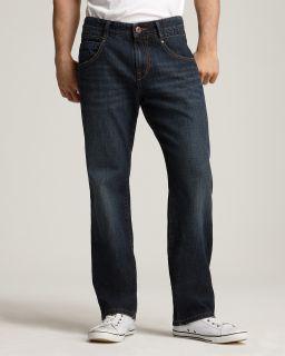 BOSS Orange 49 Bootcut Jeans in Dark Blue Wash