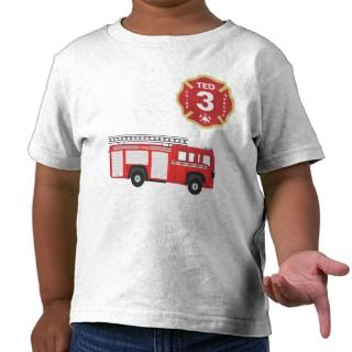 Birthday Shirt   Fire Engine