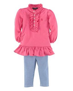 Ralph Lauren Childrenswear Infant Girls Ruffle Tunic & Foulard