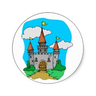 Medieval Castle Round Stickers