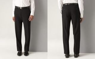 BOSS Black Mens James Brown Black Flat Front Trousers_2