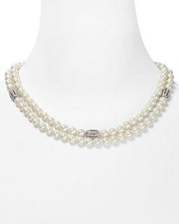 Lauren Ralph Lauren Two Row Open Crystal Necklace, 19