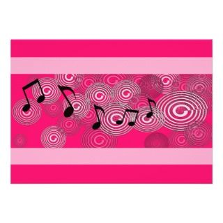 Music Note Party Invitations